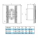 IN BB 10/4 - ventilátor do koupelny v základním provedení
