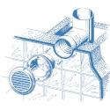 Kulatá plastová mřížka DECOR 150