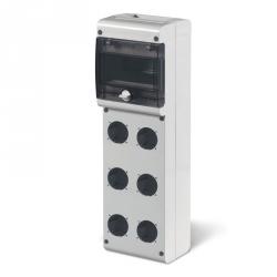 632.3530 - zásuvková skříň BLOCK 3 se šesti otvory - 6DIN