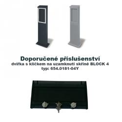 Pilíř lakovaný pro zásuvkové rozvodnice BLOCK 4