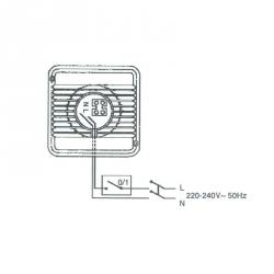 STANDARD 8 - ventilátor 80mm v základním provedení - zapojení