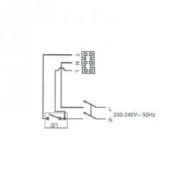 STANDARD 8 T - ventilátor 80mm s časovačem - zapojení