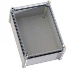 CA-1515 Krabice HALYESTER IP65, průhledný kryt 135x135x130mm