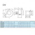 CAI 540 2 T - nerezový radiální ventilátor