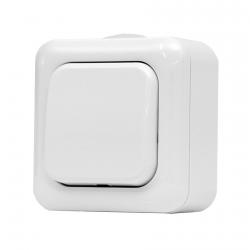 134.21901.B - Jednopólový spínač na povrch č.1 IP44 bílý