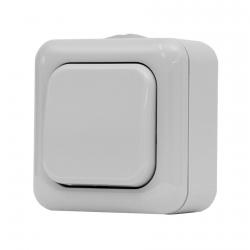 134.21901.G - Jednopólový spínač na povrch č.1 IP44 šedý