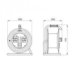 742.152/15/V-25m - Prodlužovací kabelový buben ROLLER330, délka 25m