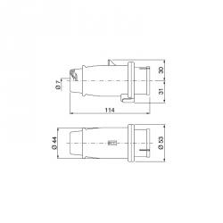 Vidlice TYP-3A 16A 200-250V IP44