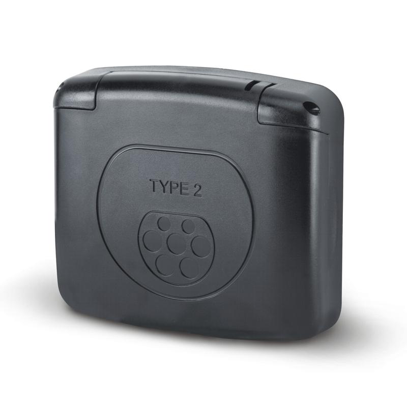 Víčko zásuvky TYP-2 série COMPACT IP55