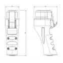 Vidlice LIBERA TYP-3C 32A 3P+N+E+2řídící - šroubové svorky