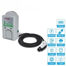 Nabíjecí stanice WallBox WB 7kW s kabelem a konektorem TYP-1