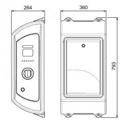 Dual WallBox WD se zásuvkami 2x TYP-2 22kW