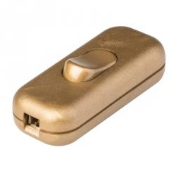 195.450P - Posuvný vypínač na šňůru 250V/2A zlatý