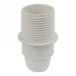 190.2000FCGB - Objímka plastová E14 se závitem a přírubou, bílá