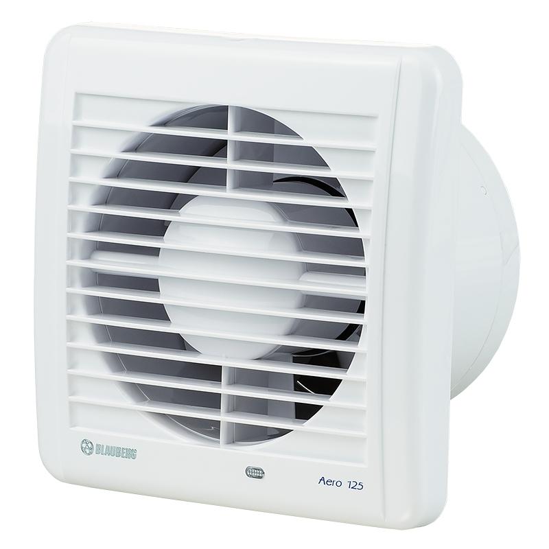 Aero 125S - koupelnový ventilátor s tahovým spínačem