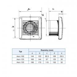 Aero 150S - koupelnový ventilátor s tahovým spínačem