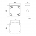 137.101 - nástěnná krabice jednoduchá pro Protecta IP66
