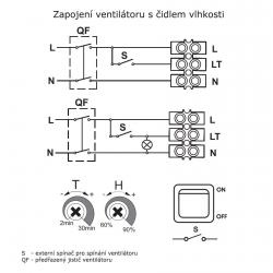 Bravo 100H - tenký ventilátor do koupelny s hydrostatem