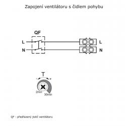 Bravo 100IR - tenký ventilátor do koupelny s čidlem pohybu