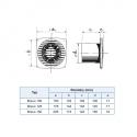 Bravo 125S - tenký ventilátor do koupelny s tahovým spínačem