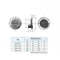 Kulatá plastová mřížka DECOR 125mm