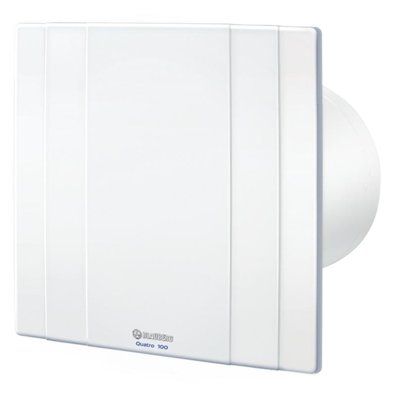 Quatro 100H - moderní koupelnový ventilátor s hydrostatem