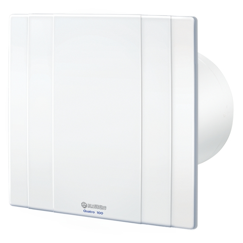 Quatro 125 - moderní koupelnový ventilátor v základním provedení