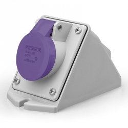 530.01610 Zásuvka 24V/16A dvoupólová nástěnná IEC309, šikmý box