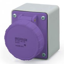 535.1610 Zásuvka 24V/16A dvoupólová nástěnná IEC309, rovný box