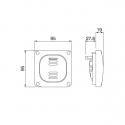 137.3022 - vodotěsný spínač č.5 20A bez krabice, série Protecta IP66