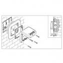 137.3111 - vodotěsný spínač č.7 10A bez krabice, série Protecta IP66