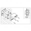 137.3311B - vodotěsné tlačítko 10A ZVONEC bez krabice, série Protecta IP66