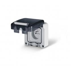 137.4411 - vodotěsná zásuvka 16A,250V bez krabice, série Protecta IP66