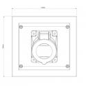 EZV3257 - Zásuvka do zdi 400V/32A pětipólová
