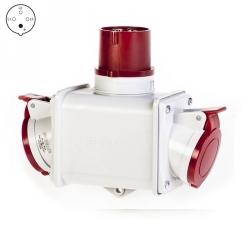 600.1626 - Dvojcestný adaptér 400V/16A/4p, IP44