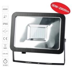 PP3132 LED reflektor 30W, 4000K, 2900lm, IP65 černý