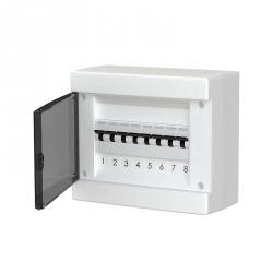 678.1008.BT Nástěnná rozvodnice 8 modulů, transparentní dveře, IP40