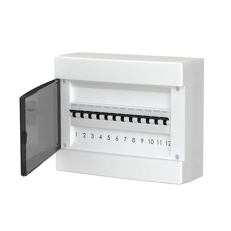 678.1012.BT Nástěnná rozvodnice 12 modulů, transparentní dveře, IP40