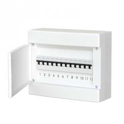 678.1012.BW Nástěnná rozvodnice 12 modulů, bíle dveře, IP40
