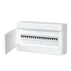 678.1018.BW Nástěnná rozvodnice 18 modulů, bíle dveře, IP40