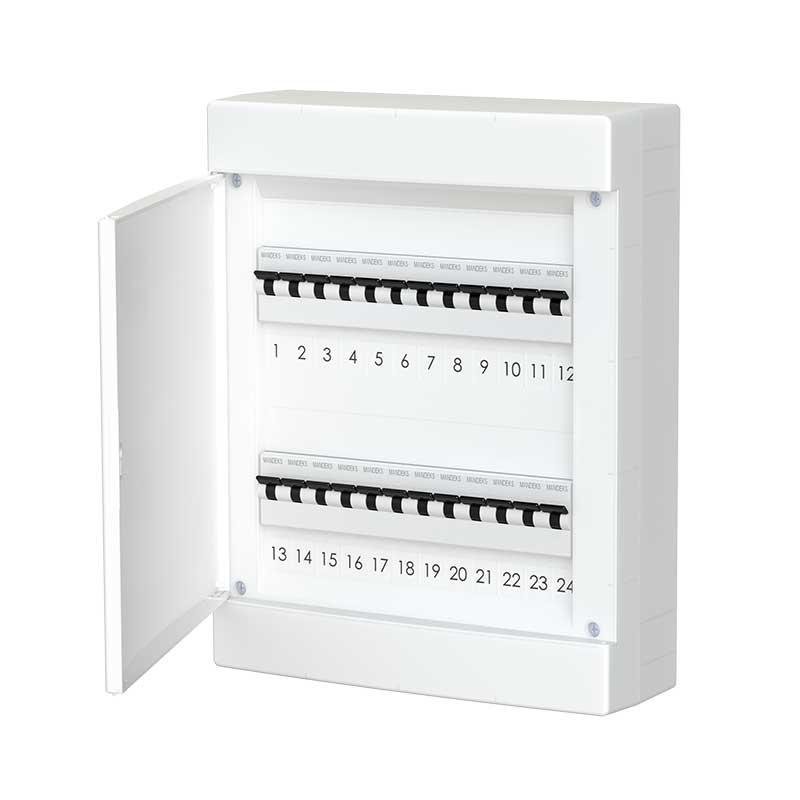678.2024.BW Nástěnná rozvodnice 24 modulů, bíle dveře, IP40