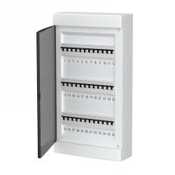 678.3036.BT Nástěnná rozvodnice 36 modulů, transparentní dveře, IP40