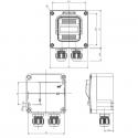 592.R002-02 ATEX přepínač 250V/16A - 2xM20 (II 2 GD)