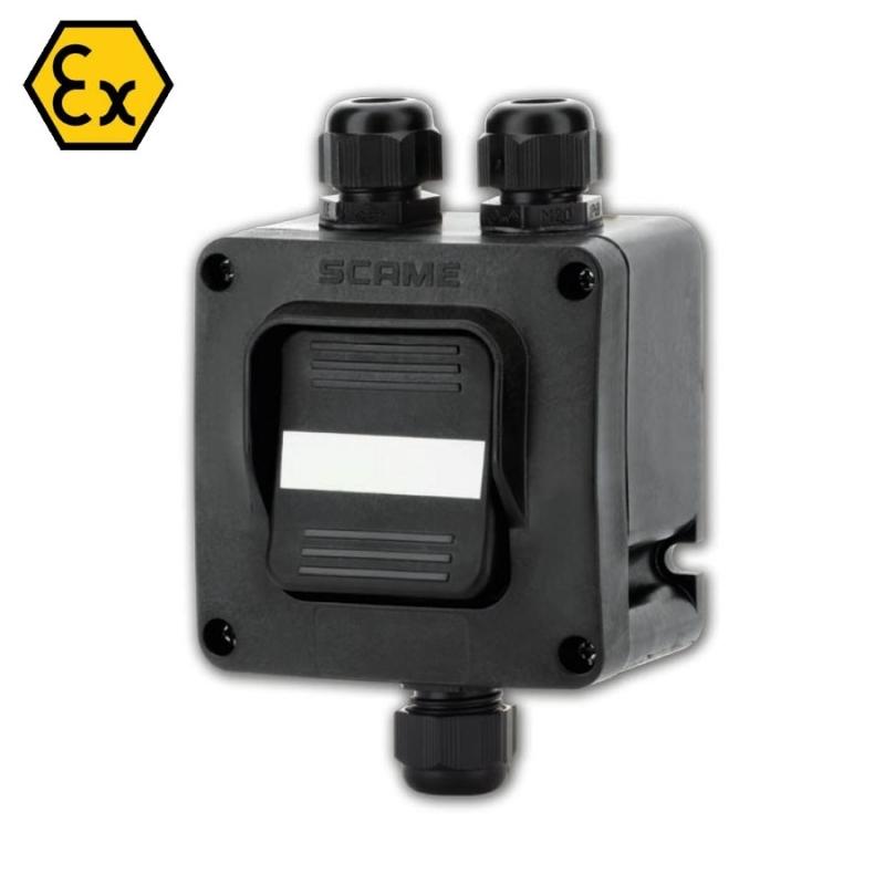 592.R002-03 ATEX přepínač 250V/16A - 3xM20 (II 2 GD)