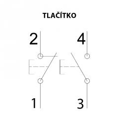 592.R003-01 ATEX tlačítkový spínač 250V/16A - 1xM20 (II 2 GD)
