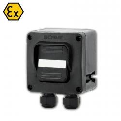 592.R003-02 ATEX tlačítkový spínač 250V/16A - 2xM20 (II 2 GD)