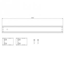 Lišta 16 DIN s držáky pro rozvaděče DOMINO IP66 rozměry