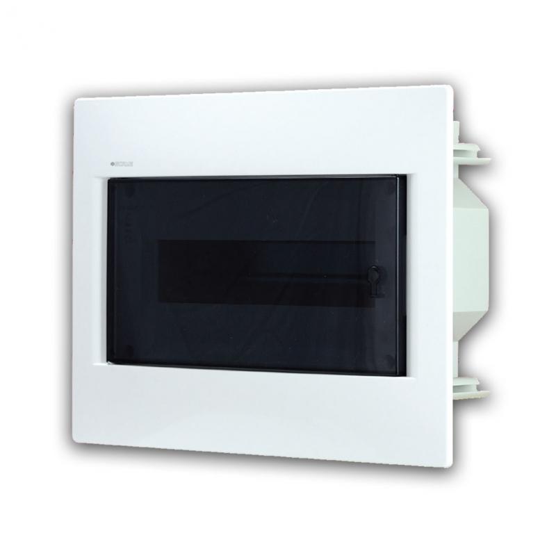 Rozvaděč do zdi 12 modulů, transparentní dveře, IP40