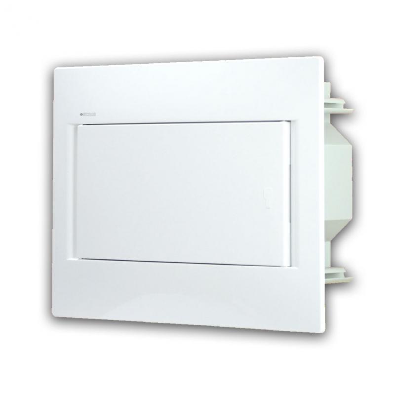 Vestavná rozvodnice 12 modulů, bíle dveře, IP40