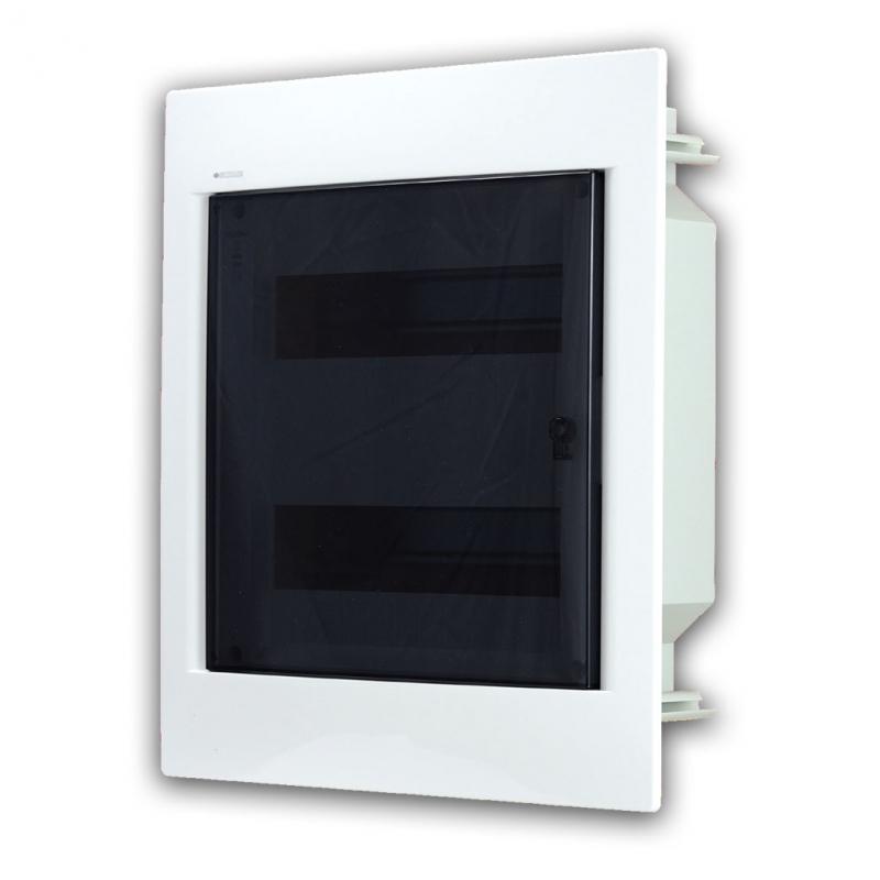 Rozvaděč do zdi 24 modulů, transparentní dveře, IP40